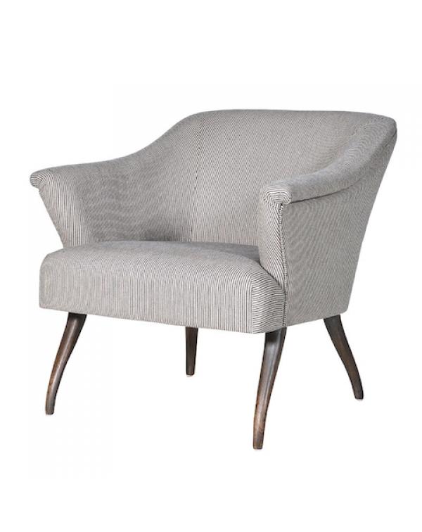 Beige Pinstripe Easy Chair
