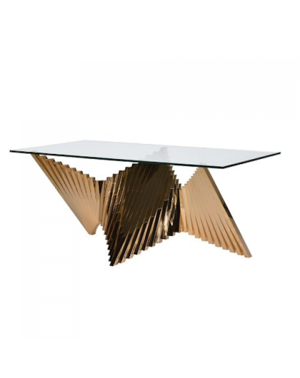 Brass Plated Steel Dining Table
