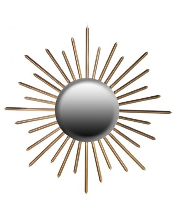 Sunburst Gold Wall Mirror