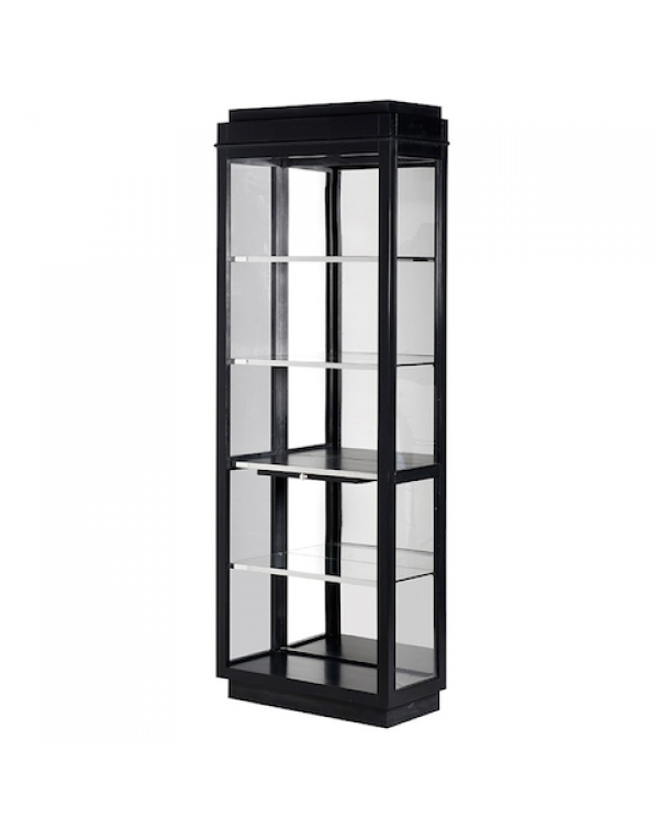 Black Kensington Single Display Cabinet