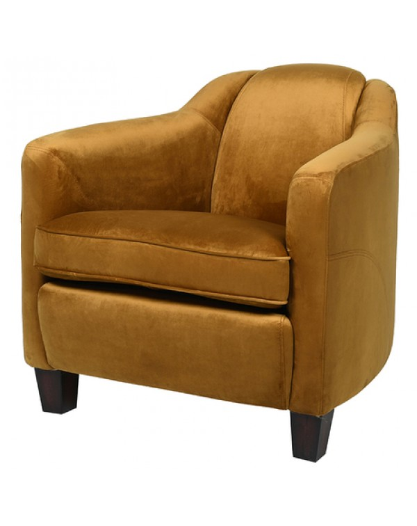 Mustard Velvet Rocket Armchair