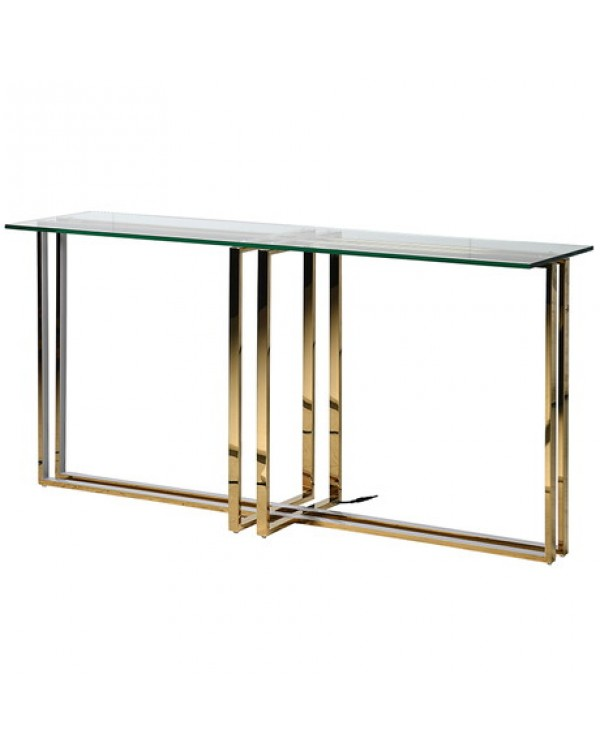 Led Gold Console Table