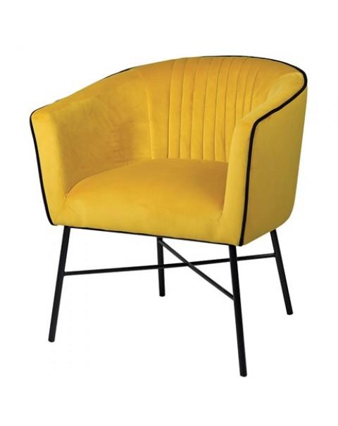 Mustard Piped Club Chair - Asco Lights