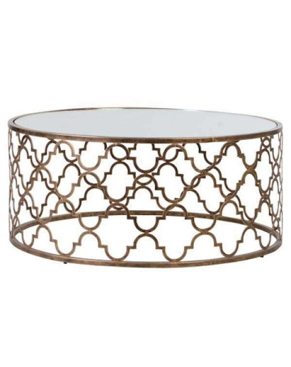 Moorish Coffee Table with Glass Top