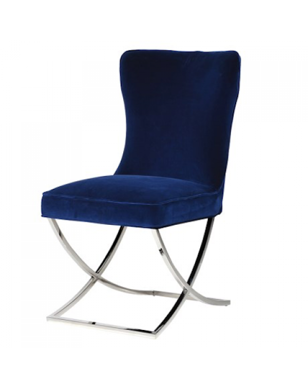 Giotto Navy Dining Chair
