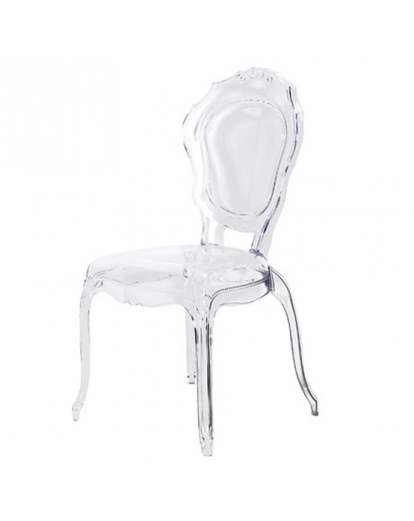 Clear Louis Style Dining Chair