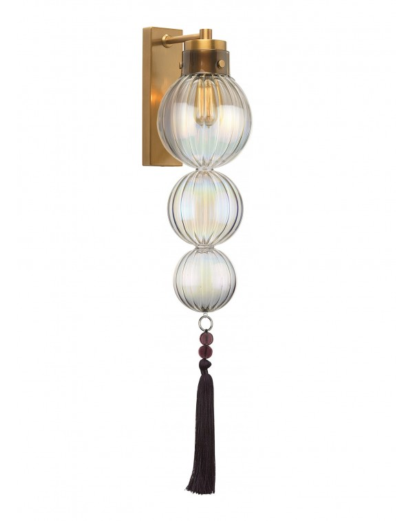 Heathfield - Medina Lustre Ant Brass/Purple Wall L...