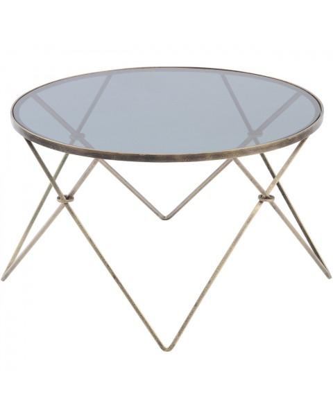 Sassari Antique Gold And Smoke Glass Coffee Table -Asco Lights