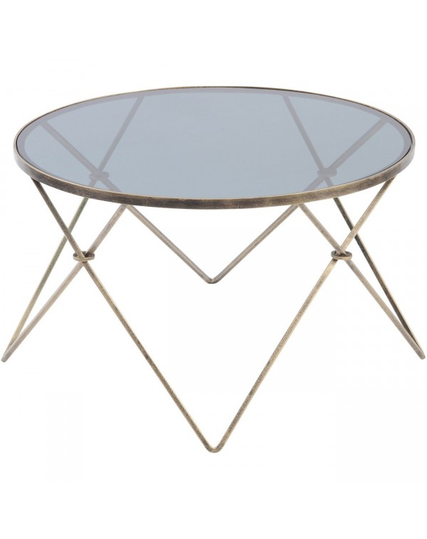 Sassari Antique Gold And Smoke Glass Coffee Table