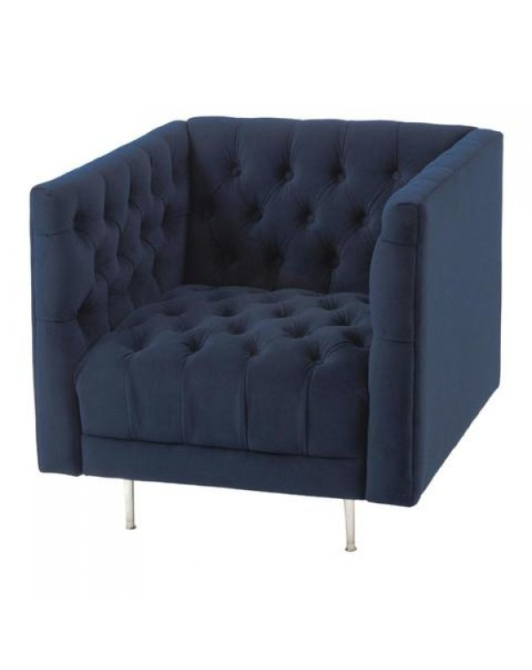 Arya Velvet Button Chair