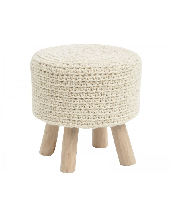Libra Normad Natural Knitted Stool