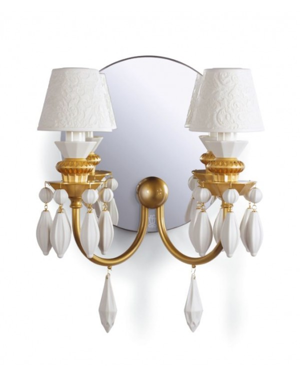 Lladro Belle de Nuit 2 Lights Wall Sconce