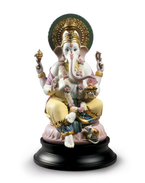 Lladro Lord Ganesha Sculpture - Limited Edition