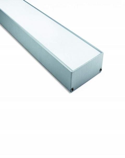 64mm Wide Mount Aluminium LED Strip Housing/Profile