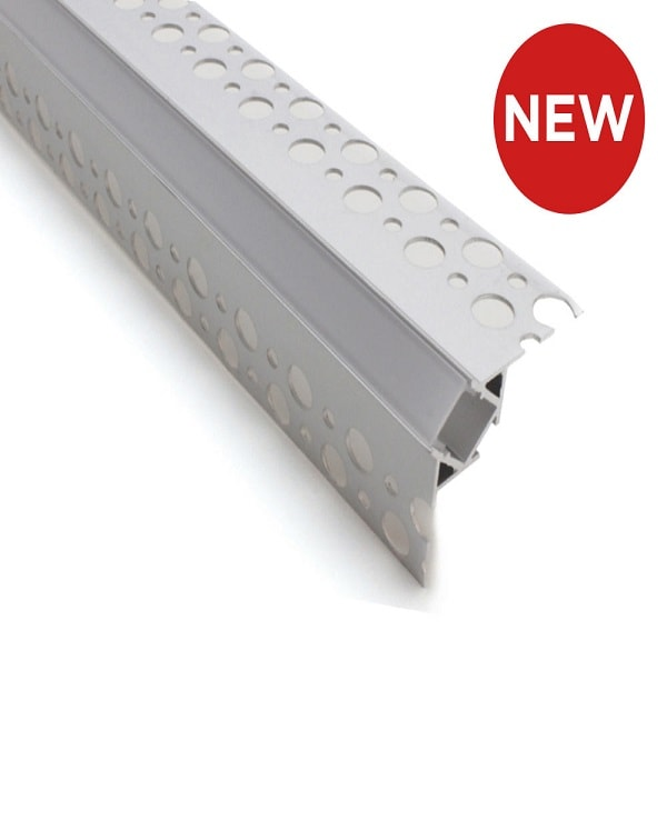 Outside Corner Plaster-In Aluminium LED Profile