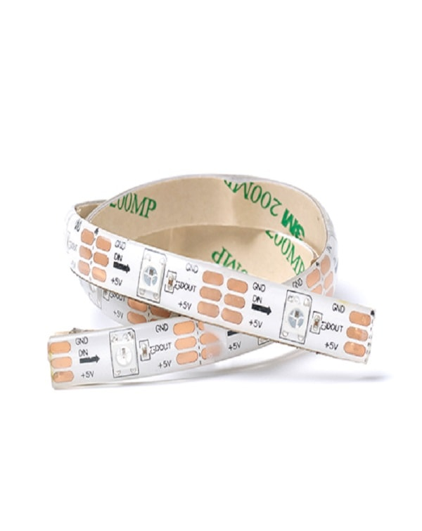 5v RGBW Single LED Addressable Strip PU Coated