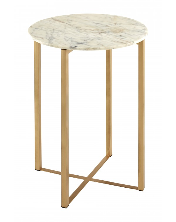 Premier  Housewares Templar White Marble Table