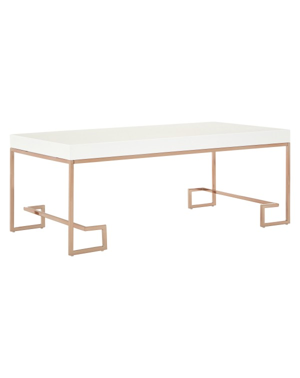 Premier Housewares Allure Coffee Table White High...