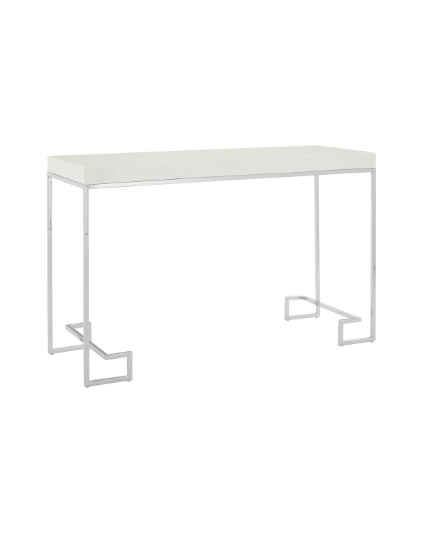 Premier Housewares -Allure Console Table White Hi...
