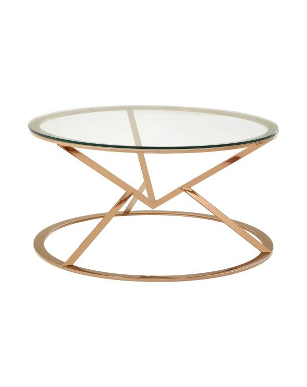Premier Housewares Allure Round Coffee Table Tria...