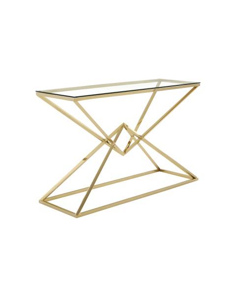 Integrate the Allure console table into a contemporary geometric interior design theme.
