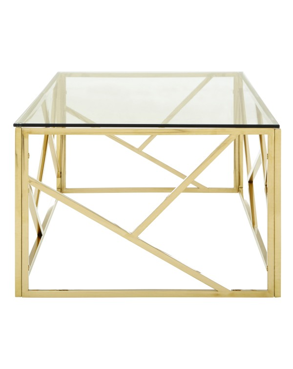 Premier Housewares Allure Coffee Table Clear Glas...
