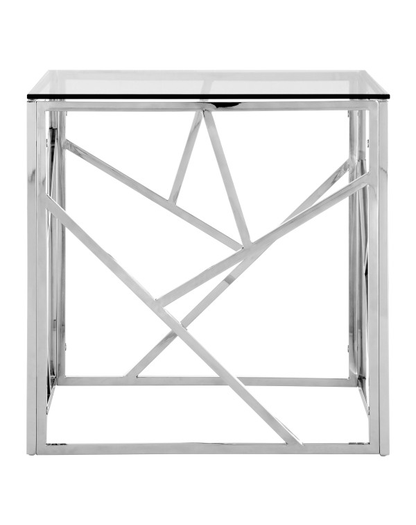 Premier Housewares  Allure End Table Clear Glass ...