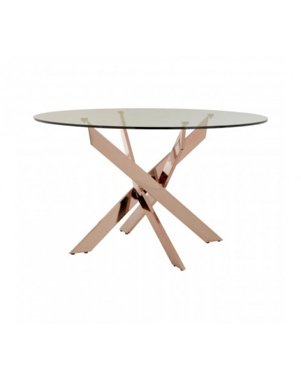 premier House Wares Allure Rose gold Dining Table